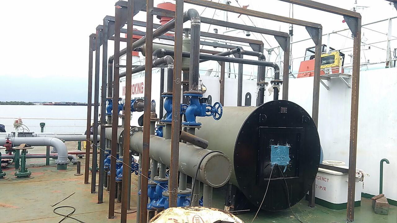 jual boiler kapal tanker pemanas crude oil minyak mentah