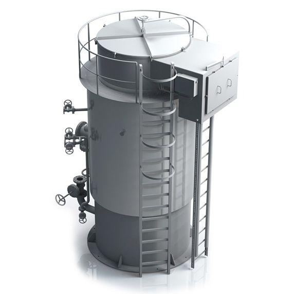 vertical marine boiler