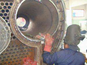 repair furnace tube dan tube plate